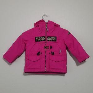Napapijri Geographic Toddler 2 Pink Hooded Coat